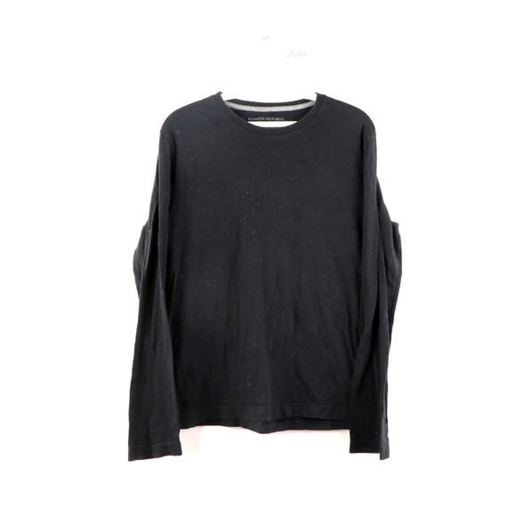Banana Republic Soft Wash Long Sleeve Shirt Black